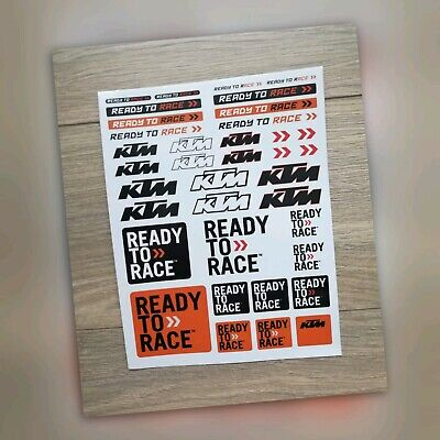 KTM Ready To Race Sticker Decal Motocross Enduro Car Van Laptop  Toolbox Windows