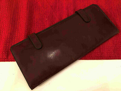 Bosca Brown Leather Travel Tie Case Hand Stained Hide USA MADE