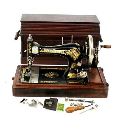 Antique Singer 28K Hand Crank Sewing Machine c1900 - FREE Shipping [5775]