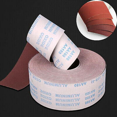 60-800Grit Emery Cloth Roll Aluminium Oxide Sandpaper For Grinder Polishing Tool