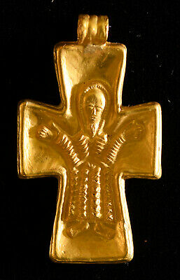 Gold Cross Pendant Early Byzantine