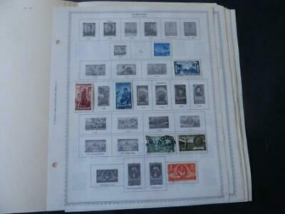 Romania 1949-1960 Stamp Collection on Album Pages
