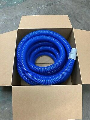 "IHelix Carpet Cleaning Vac Hose.Welded Cuffs Blue 1 1//2"" ID X 50' Truckmount"