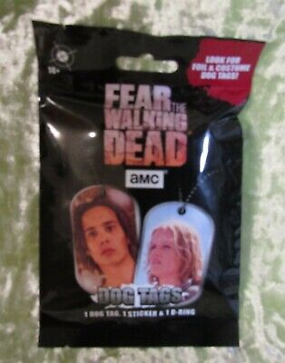 Fear The Walking Dead Dog Tag Blind Pack 1 Dog Tag, 1 Sticker, 1 D-Ring