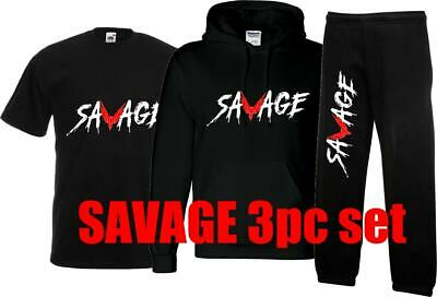 kids SAVAGE HOODY JOGGERS AND TSHIRT set, LOGANG inspired JAKE LOGAN PAUL