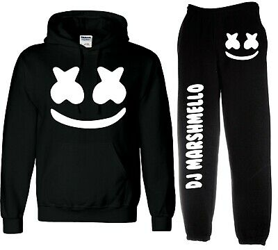 kids marshmello HOODY and JOGGERS , DJ YOUTUBER HOODIE YOU TUBE tracksuit