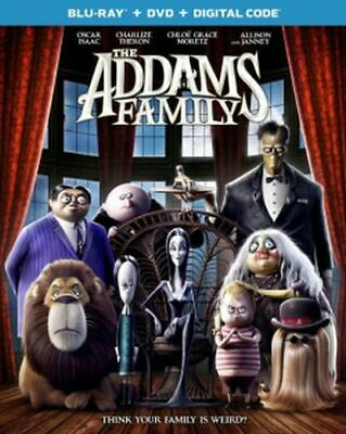 The Addams Family Blu-ray/DVD/Digital NEW Voices of Oscar Isaac, Charlize Theron