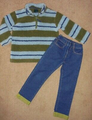 Boys Stylish Jeans & Fleece Sweatshirt Age 5-6 Years - Boden & Mothercare