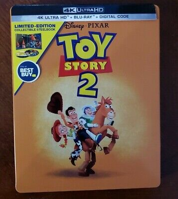 Toy Story 2 Steelbook (4k Ultra HD and Blu-ray) Tom Hanks - No Digital