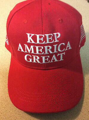 Trump 2020 Keep America Great Campaign Cap Hat Embroidered   RED