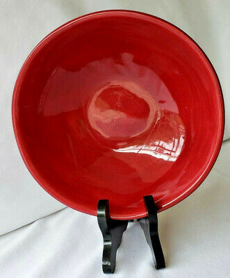 """Tabletops Unlimited Gallery Napoli Red Coupe Soup / Cereal Bowl 6 7/8"""""""