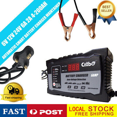 Car Battery Charger Heavy Duty 6V12V/24V Trickle/Turbo Leisure Vehicle HGV Lorry
