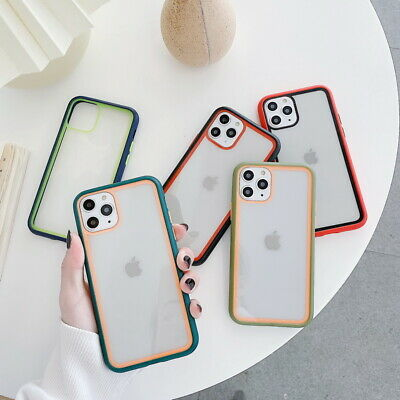 For Apple iPhone 11 Pro MAX 11 Shockproof Colorful Bumper Hard Clear Case Cover