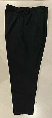 LEE Womens Ladies Dress Relaxed Fit Tapered 24W Medium Black Pants Slacks