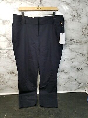 Ivanka Trump Women's  Career Dress Pants  New Slim Full Leg Pants 16 Navy #E