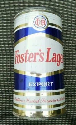 Foster's Lager Straight Steel Can 26 2/3 Fl Ozs VINTAGE HEXAGON LABEL DESIGN