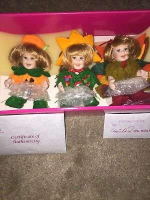Marie Osmond Small Dolls for All Seasons #2 Trio BRAND NEW IN BOX w//CERT *SALE*