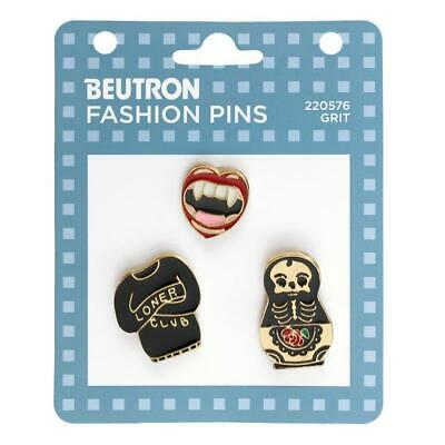 Beutron Fashion Enamel Pins 3 pieces - Grit, Brooch, Badge Scarf Pin