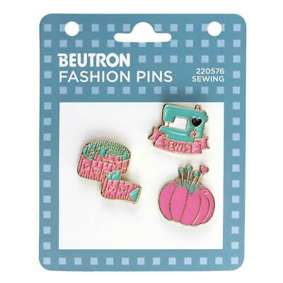 Beutron Fashion Enamel Pins 3 pieces - Sewing, Brooch, Badge Scarf Pin