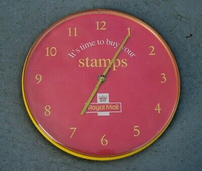"Genune Official 9"" Post Office Wall Clock - Royal Mail Stamps Memorabelia In Vgc"