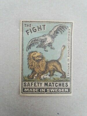 Manufactured,SwedenTHE FIGHT, Safety Matches,Streichholz-Bilder,Kunst,Nachlass