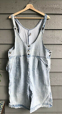 90's J. Michelle Shortall Light Washed Overall Shorts Denim Medium Women's USA