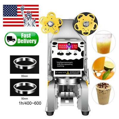 450W Commercial Auto Electric Bubble Tea Coffee Milk Cup Sealer Sealing Machine