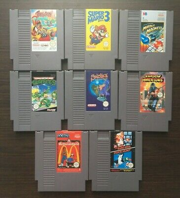 Lot  Jeux Nintendo Nes Loose