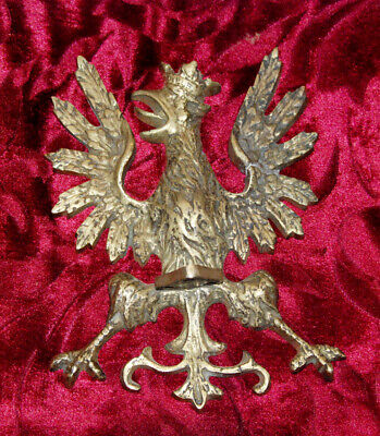 Antique Poland Eagle Wall Art Statue bronze brass flag pole top