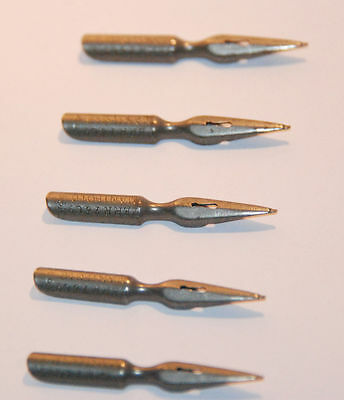 Fountain Pen Nibs Perry & Co Manifold London Vintage Ink Dip Calligraphy  5 pcs
