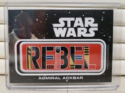 Topps Star Wars Journey to the Rise of Skywalker Admiral Ackbar Rebel Patch Card