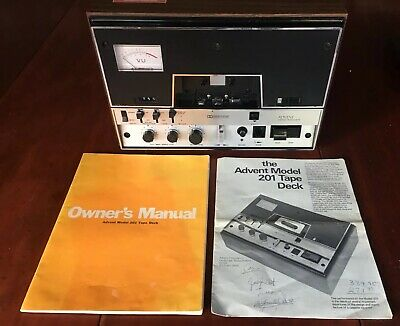 Advent Model 201 Vintage High Performance Stereo Cassette Tape Deck With Manual
