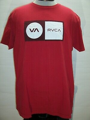 RVCA Mens XL X-Large red T shirt Combine ship Discount