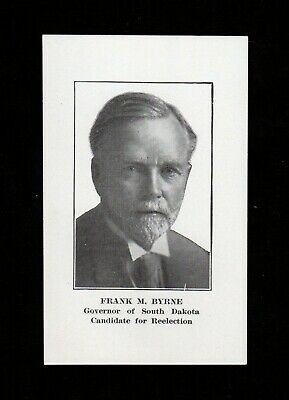 >orig./Gem! 1914 Vintage Ink Blotter South Dakota GOVERNOR FRANK M. BYRNE