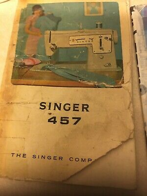 Singer 457 Sewing Machine Instruction Booklet