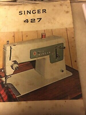 Singer 427 Sewing Machine Instruction Booklet