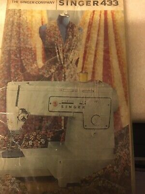 Singer 433 Sewing Machine Instruction Booklet
