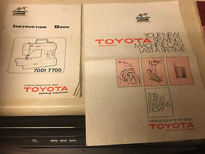 Toyota 7001 7700 SEWING MACHINE INSTRUCTION BOOKLET