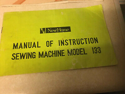 New Home 133 SEWING MACHINE INSTRUCTION BOOKLET