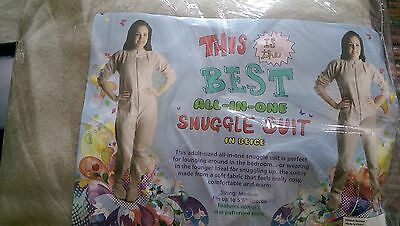 Ladies  FLEECE pyjama suit Jumpsuit All In One Snuggle with  Feet reduced!!