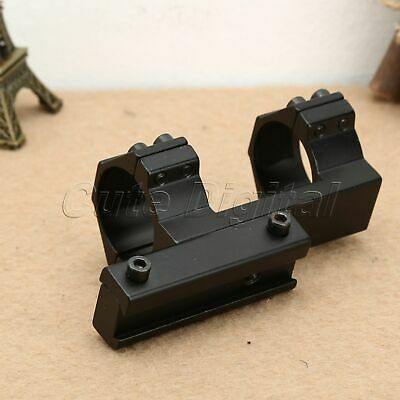 """Flat Top One Piece 30mm/1.2"""" Dual Ring Scope Laser Mount with 11mm Dovetail Rail"""