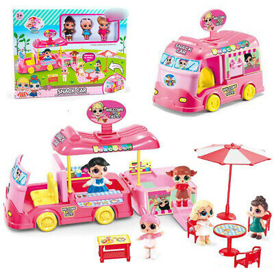 Creavtive toys  PRETEND PLAYSET KID TOYLOL SURPRISE SNACK VAN CAR DOLL GIRLS