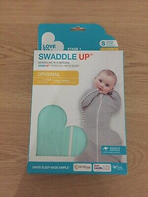 NEW Love to Dream Original Baby Swaddle Up Zip Up 1Tog Mint Green-FREE SHIPPING