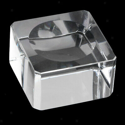 Clear Square Crystal Ball Display Base Home Decration 70-80mm Sphere Ball