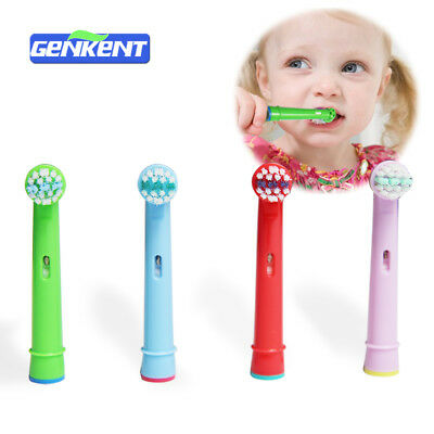4 Replacement Heads Compatible With Oral-B Stages Kids Electric Toothbrush Set 1