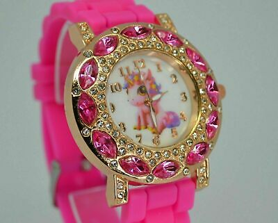 Unicorn Watch Pink Girls Boys Childrens Kids Child Toys Gem Learn 2Tell The Time