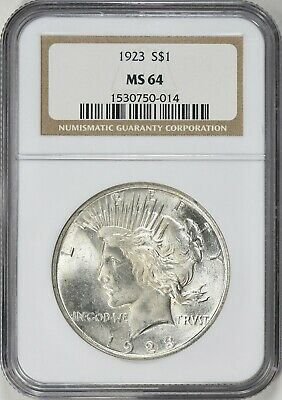 1923 Peace Silver Dollar NGC MS64