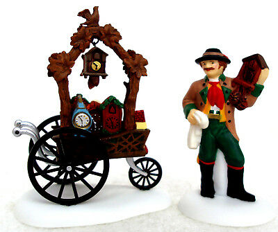 Dept. 56 Cuckoo Clock Vendor & Cart Set of 2 Retired 2004 Alpine 56303 New