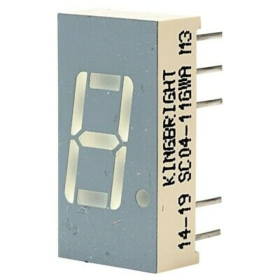 5x Kingbright SC04-11GWA 10.2mm Green LED Display Cathode