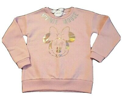 BNWT Girls Pink Disney Minnie Mouse Jumper Sweatshirt Age 7-8 Primark